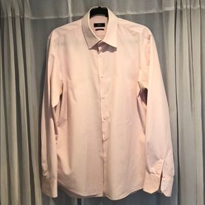 Hugo Boss pink dress shirt